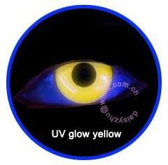 Uv glow yellow 1års lins