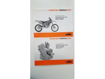 KTM SX EXC MXC 250 450 400 525 2005 Spare parts manual: Chassis / Engine