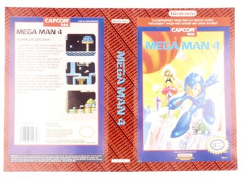 Mega Man 4 (Original YAPON Rental Cover Paper) -