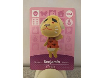 Animal Crossing Amiibo Welcome Amiibo card nr 084 Benjamin