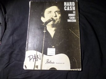 HARD CASH 32 JOHNNY CASH SUCCEER - NOTBOK 60-TAL NOTER  Folsom prison blues mfl.