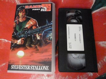 RAMBO 2, VHS, SVENSK TEXT, FILM