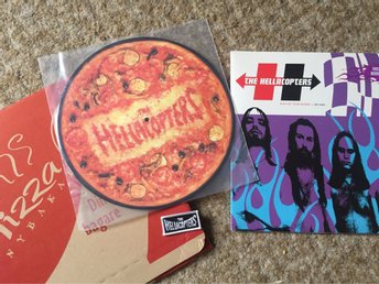 HELLACOPTERS-payin the dues dubbel Vinyl .Im in the band-pizza edition med Patch