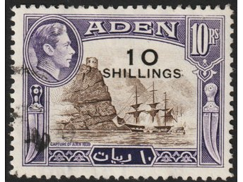 Aden, SG46, 1951 Surcharge 10s/10r, kat £17