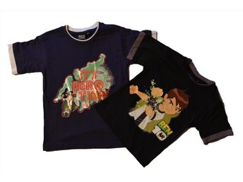Ben 10 Alien Force 2 Pack T-Shirt Svart Blå stl 92/98 2år