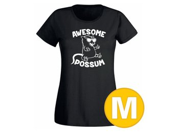 T-shirt Awesome Possum Svart Dam tshirt M