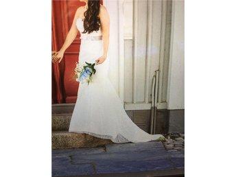 Designer Brudklänning/ sweetheart modell med släp, strlk 36-40 vitspets - Uddevalla - Designer Brudklänning/ sweetheart modell med släp, strlk 36-40 vitspets - Uddevalla