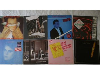 Paket med 8 lp -80-tals-synth/New wave-Adam Ant,Moyet,Yazoo,Beat Box;Classix N