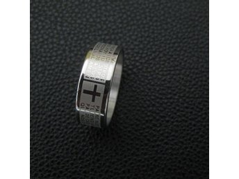 Ring med bibeltext  stl 20,2 mm.  Unisex