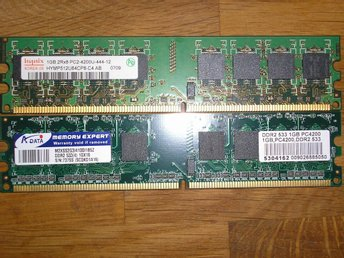2GB RAM MINNE HYNIX  1GB PC2-4200U-444-12, 1GB A-DATA PC2-4200