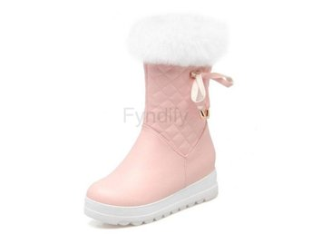 Dam Boots Thick Platform Height Increasing Botas Pink 40