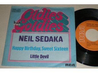 Neil Sedaka 45/PS Happy birthday sweet sixteen / Little devil 197? VG++