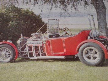 T-Ford Colorod Affisch Hot Rod Model T