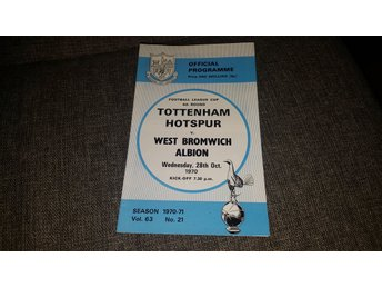 Program Tottenham Hotspur v West Bromwich 70-71