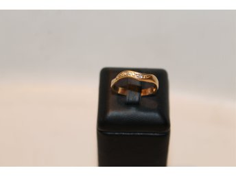 Ring m. 5 diamanter 18k