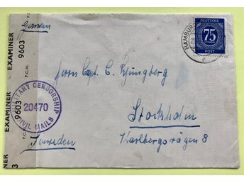BREVOMSLAG - MILITARY CENSORSHIP CIVIL MAILS - BRITISH ZONE