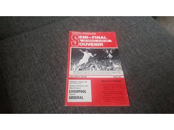 Program Liverpool v Arsenal semifinal ligacupen 1978