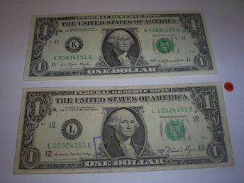 Sedlar USA dollar x 2