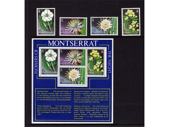 MONTSERRAT - Flowers of the Night , utgivna 1977   Perforering: 14