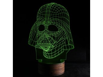 Star Wars Darth Vader  3d lampa nattlampa