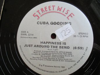"12"" maxi: CUBA GOODING Happiness is Just Around the Bend (USA 1983) Electro!"