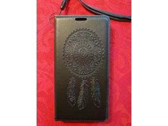 Mobiltelefon skal Samsung galaxy S7 mobilfodral plånbok Svart drömfångare 06b7951771d0f