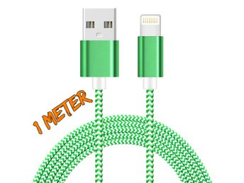 1M iOS 9.3 lightning kabel GRÖN/VIT - Nässjö - 1M iOS 9.3 lightning kabel GRÖN/VIT - Nässjö