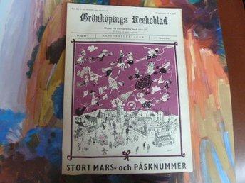 GRÖNKÖPINGS VECKOBLAD, 1964 MARS 7, TIDNING - Anderstorp - GRÖNKÖPINGS VECKOBLAD, 1964 MARS 7, TIDNING - Anderstorp