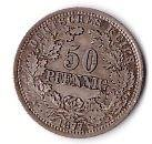 germany  50 pfennig 1877 E   svår