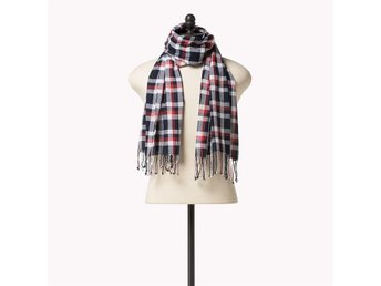 Ny herr Tommy Hilfiger sjal Cotton Checked Scarf