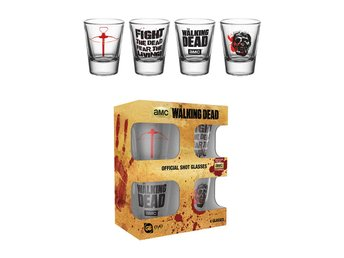 Shotglas (4st) - The Walking Dead Symbols