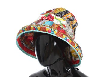 Dolce & Gabbana - Carretto Print Wide Brim Bucket Hat