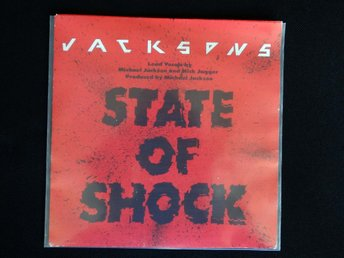 "JACKSONS (M-) – State Of Shock / 7"" Vinyl PS Single Europe'84 / Mick Jagger"