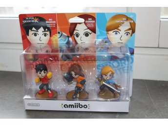 NY Amiibo - 3 Pack Mii Amiibos, Super Smash Bros for Wii U