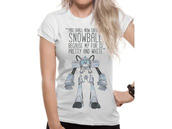 RICK AND MORTY - SNOWBALL (FITTED)    T-Shirt, Kvinnor - Small