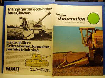 Ä.Tidskrift Traktor Journalen nr 8/1974. BM SM 958-ELMIA-BIZON  mm