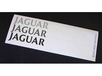 Jaguar Colour & Trim Guide   Original broschyr