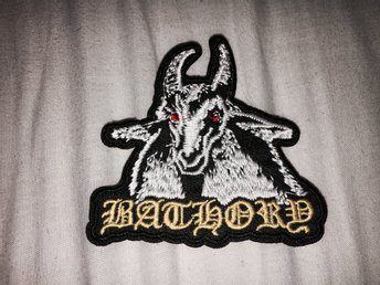 BATHORY TYGMÄRKE BLACK METAL PATCH