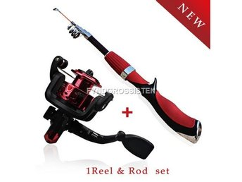 Fiskespö Med Rulle Carbon Superhard RodFishing Tackle Set Fr