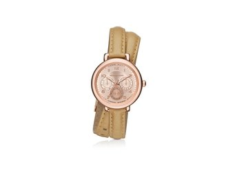 Michael Kors Pink Kohen Rose Gold Leather Wrap