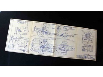 Mercedes Benz Lastbil Original Blueprint ritning   1954