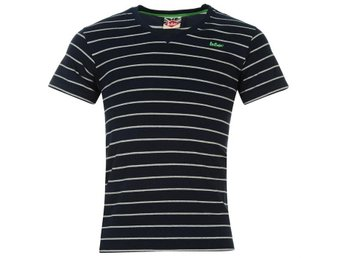 Lee Cooper T-Shirt V-Neck  Stripe Navy   XL