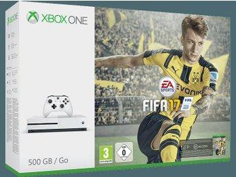 MICROSOFT Xbox One S (inkl. FIFA 17) - 500 GB Ny 1 års garanti - ödåkra - MICROSOFT Xbox One S (inkl. FIFA 17) - 500 GB Ny 1 års garanti - ödåkra