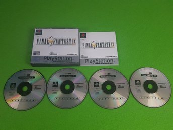 Final Fantasy IX 9 KOMPLETT I FINT SKICK Playstation ps1