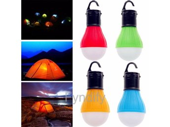 Hanging LED Camping Tent Light Bulb Grön