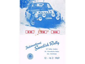 Intenational Swedish Rally 1969 Reklamblad