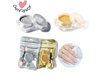 guldpulver/Gold mirror powder / Pulver- Chrome