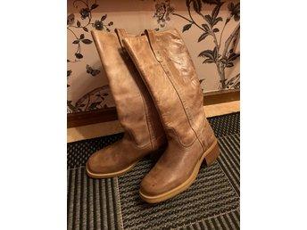 Nya läder stövlar, st 37, natur bruna (383646743) ᐈ Köp på