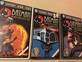 Vhs paket! 3 st Batman - Halmstad - Från den klassiska hyllade 90-tals serien. Kolla gärna mina övriga annonser! - Halmstad