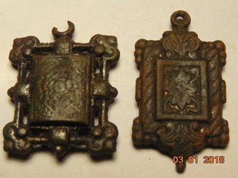 Two very old two-sided medallions XVII - XVIII CENTURY